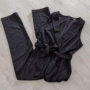 Fashion Nova Black Collared Jumpsuit